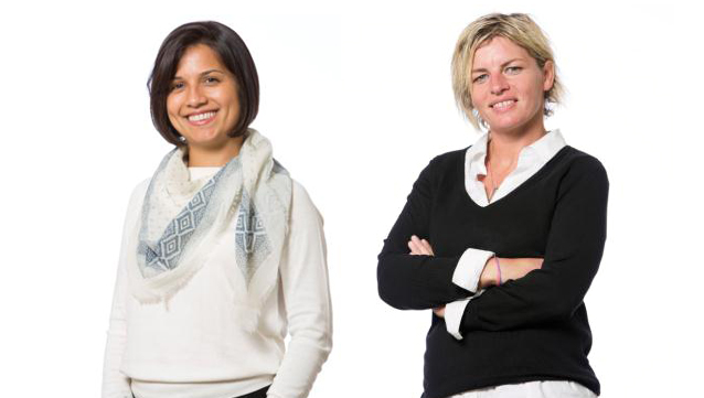 """Anne-Cécile Ratsimbason et Vanessa Yardin, respectivement lauréates du """"Grand prix talents des cités"""" et de la """"Mention spéciale""""."""