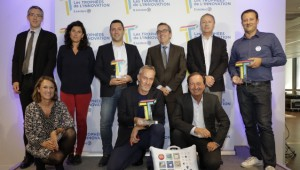 Vincent Fournet, Coline Debayle, Philippe Le Maitre, Guillaume Ravel, Jean-François Gruau et Nicolas Perrin.  Fabienne Cammas, Alain Tixier et Michel-Édouard Leclerc.